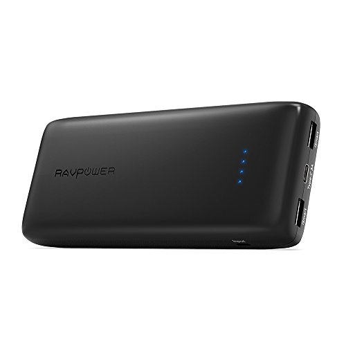 RAVPower Caricabatteria Portatile 22000mAh con Ingresso e Uscita Type-C per Una Ricarica più Veloce, Realizzazione Elegante per MacBook 15', S8, Google Pixel, Lumia 950, Huawei Mate 9, P9, P10