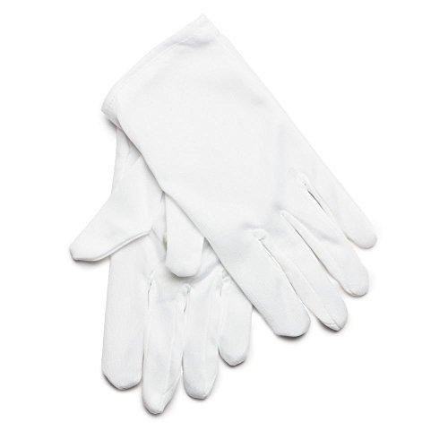 Rubies 's - Guantes de algodón Infantiles, Color Blanco (Talla única)