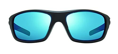 Revo Gafas de sol polarizadas Jasper marco envolvente 61 mm, marco negro mate, H20