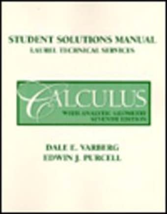 Calculus With Analytic Geometry: Student Solution Manual