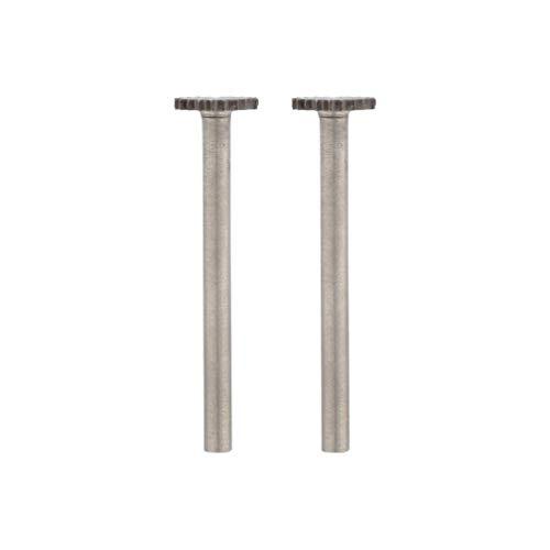 Dremel 199 Hochgeschwindigkeits-Fräser - Zubehörsatz für Multifunktionswerkzeug mit 2 Fräsern Ø9,5mm zum Schnitzen, Gravieren und Fräsen in Holz, Weichmetall, Beton u.v.m.