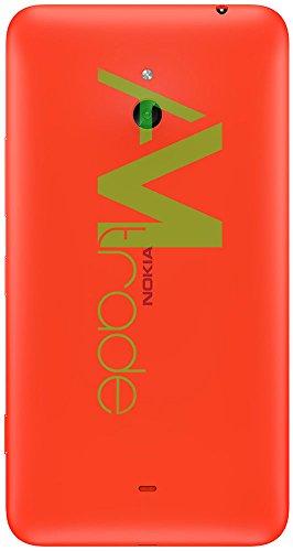 Nokia 8003293 - Copribatteria originale, cover di ricambio per Nokia Lumia 1320, colore: arancione.