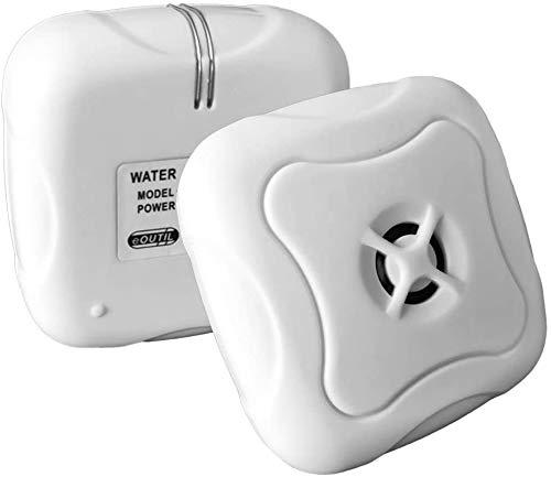EOUTIL Detector de Fugas de Agua de 95 dB, 2 Unidades, Alarma inalámbrica contra Fugas y inundaciones para Seguridad del hogar, Cocina, baño, sótano y más
