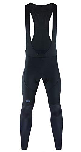Bicycle Pants Men Winter Fleece Cycling Bib Tights Windproof Thermal Bike Leggings X-Large Black
