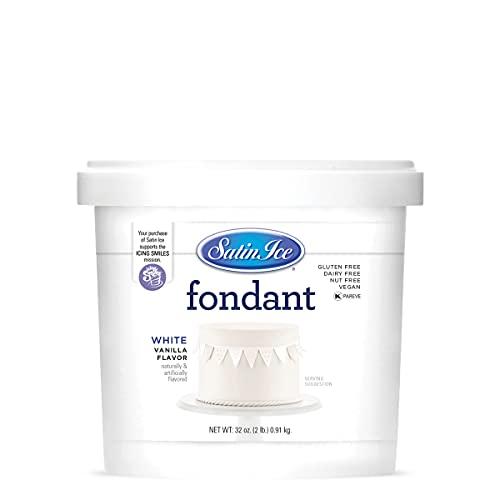 Satin Ice White Fondant, Vanilla, 2 Pounds- Other sizes available!