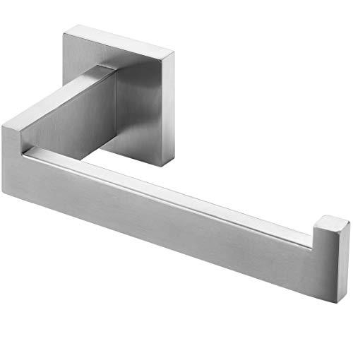 HITSLAM Toilettenpapierhalter, WC Edelstahl Klopapierhalter für Küche und Badzimmer klorollenhalter (Gebürstetes Nickel) (Quadrat)