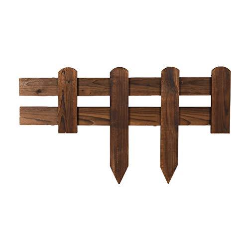 WXQIANG Pack de 4 x Madera Panel de piquete, Perfecto for Césped Bordes, Madera césped de Hierba parterres y Vallas Decorativas, Cubierta Patio al Aire Libre, 60x20cm, Brown