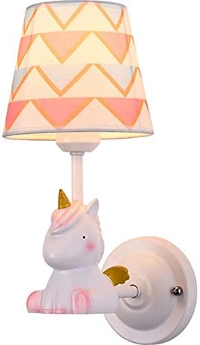 Applique da parete per interni Lampada da parete Simpatica lampada da parete in resina in ferro battuto Nordic pastorale Camera da letto Soggiorno Parete creativa Paralume in tessuto Lampada da parete