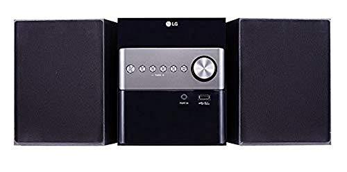 LG CM1560DAB Micro-HiFi Anlage (10 Watt), Stereo-Lautsprecher (Bluetooth, CD, USB), schwarz [Modelljahr 2019]