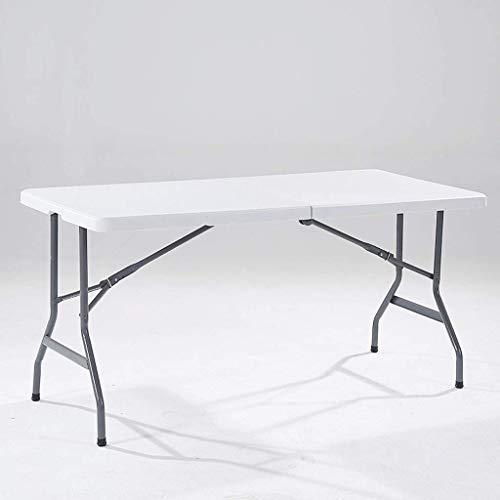 DONGY Mehrzweck Klapptisch tragbare Outdoor weiß Falten esstisch und Stuhl Klappbarer Langer Tisch Konferenztisch Rutschfeste Anti Aging 186 * 76 *...