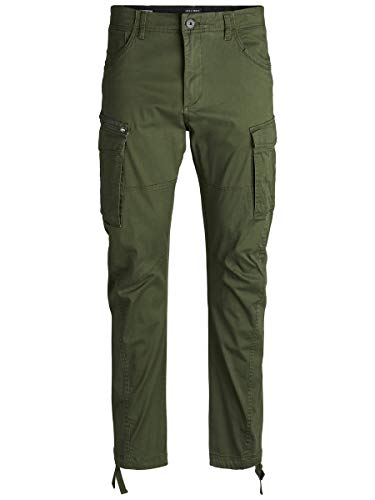 JACK & JONES Herren Cargohose Drake CHOP AKM 574 3432Forest Night