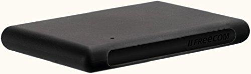Freecom Mobile Drive XXS 1 TB Schwarz Gummi; Externe Festplatte USB 3.0; Festplatte extern für Windows & Mac OS X; tragbare Festplatte; Datenspeicher bruchsicher