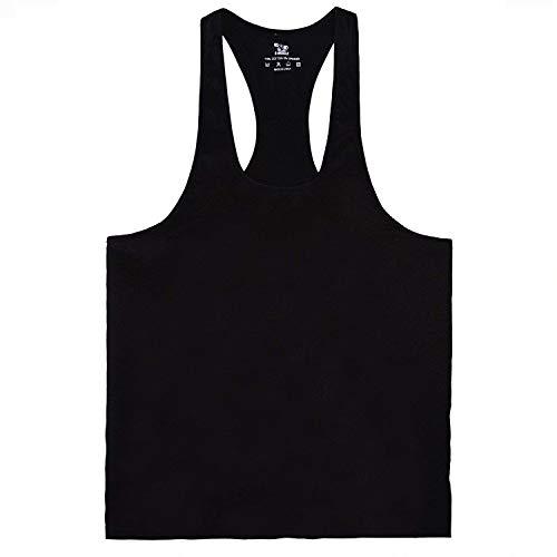 TBMPOY メンズ スポーツ タンクトップ ジム用 アウトドア 筋トレ ウェア 袖なし 男性 ボディビル ブラック5 L