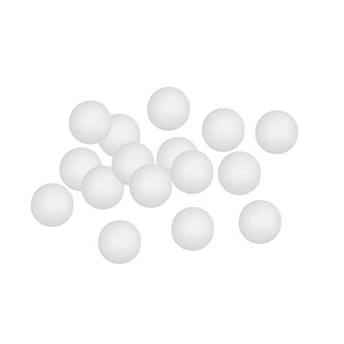 Healifty 100pcs Palline di Schiuma Bianca a Forma di Palla Decorazione Natalizia Palla Arte Decorazione polistirolo Kit Artigianato Fai da Te Natale Ornamenti Palla Natale 2 cm