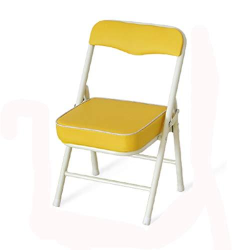 N/A WYQHS Sedie Pieghevoli, Sedia Pieghevole in Acciaio Imbottito Sedile Imbottito e sedie Pieghevoli Torna Stacked, Metal Frame (Color : Yellow)