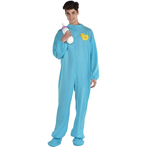 AMSCAN Blue Footie Pajamas Halloween Costume for Adults, One Size