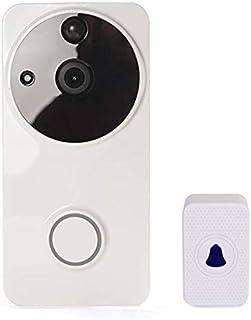 جرس باب بفيديو واي فاي 1080P أليكسا جوجل هوم IP65 مقاوم للماء في الهواء الطلق كاميرا فيديو ذكية لاسلكية نظام اتصال داخلي م...