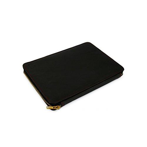 A.P. Donovan - caja del ordenador portátil de cuero para MacBook Pro 15 - protección - terciopelo Organizador con bandeja de accesorios - negro