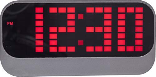 NeXtime Wecker, Metall und Kunststoff, Rot, Ø 17.5 cm