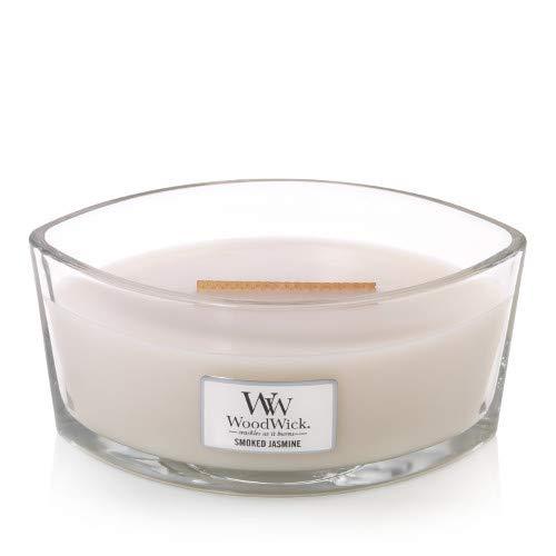 WoodWick Hearthwick Ellipse Duftkerze mit Rauch-Jasmin, 473 ml