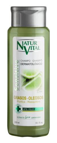 NaturVital Sensitive Champú Cabellos Grasos - 300 Ml