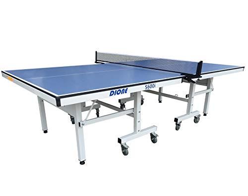 Dione Tischtennisplatte School Sport 600 kompakt Indoor Blau TT-Platte rollbarer und klappbar Tischtennistisch - Vormontiert - 95KG