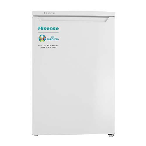 Hisense RR154D4AW2 Frigorífico Pequeño, una puerta reversible, clase A++, 119 l de capacidad neta, 84.5 cm de alto, silencioso 40dB, 119 litros, Plástico, Blanco