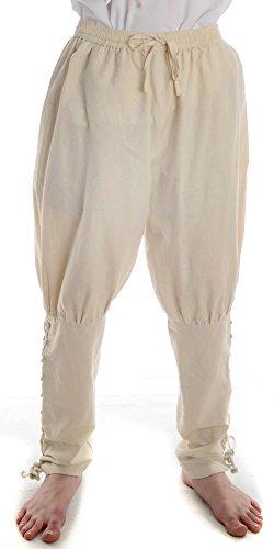 HEMAD Pantalones de algodón para hombres Viking - con cordones - S/M Beige