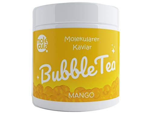 Popping Boba Bobas Bubble Tea ohne künstliche Farbstoffe Tapioca Molekularer Kaviar Mango 800g Fruchtperlen 100% Vegan
