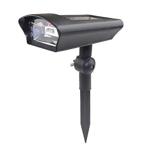 Decdeal LED Solar Wandleuchte Gartenleuchte Überwachungskamera Form Solarbetriebener Lichtsensorsteuerung Wasserfestigkeit Rasen Beleuchtet Weg Lampe im Freien