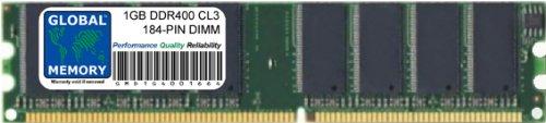 GLOBAL MEMORY 1GB DDR 400MHz PC3200 184-PIN DIMM Memoria RAM
