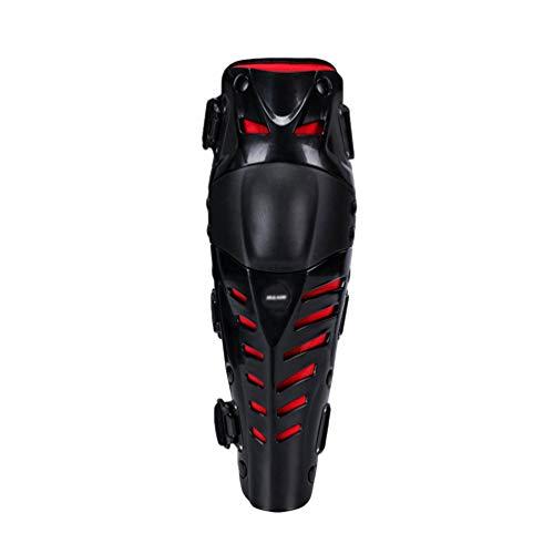 GladiolusA Motorrad Knieschoner Racing Knie Und Schienbeinschoner Knee Guard Schutzausrüstungen Für Motocross Motorrad Fahrrad Skateboard-Fahrrad Schwarz Rot Oberschenkel:35CM-45CM