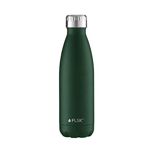 FLSK Das Original Edelstahl Trinkflasche – Kohlensäure geeignet, Forest, 500ml