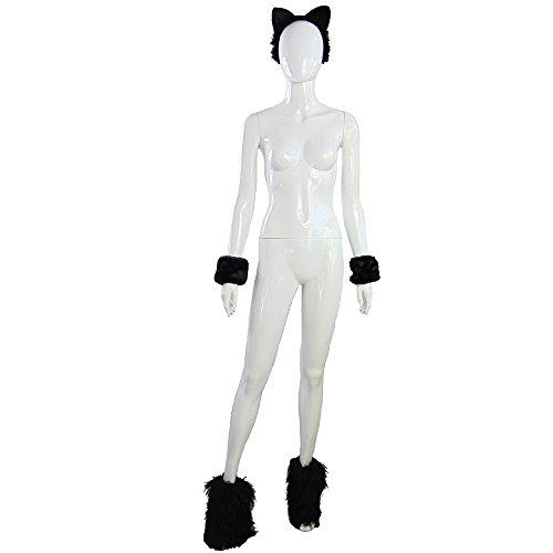 Partybob Katzenkostüm - schwarzes Katzen-Kostüm-Set für Fasching