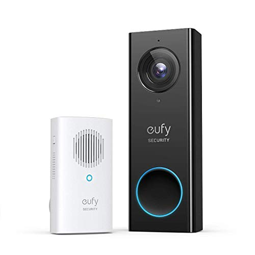 eufy Security, Wi-Fi Video Doorbell, 1080p-Grade Resolution, No Monthly Fee, Secure Local Storage, Human Detection, 2-way Audio, Free Wireless Chime-Requires Existing Doorbell Wires (Renewed)