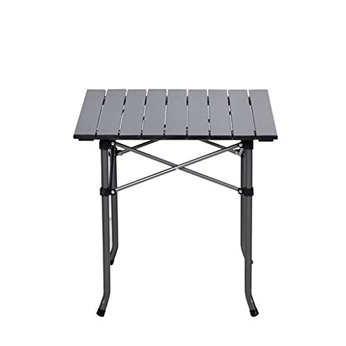 jinrun Sturdy Coffee Table Outdoor Folding Table Camping Chair Aluminum Picnic Table Durable Waterproof Table Folding Table Minimalist Side Table (Color : A)