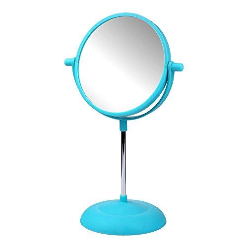 Schramm Kosmetik Spiegel Bunt 15cm in 4 Farben wählbar Kosmetikspiegel Schminkspiegel beidseitig, Farbe:blau