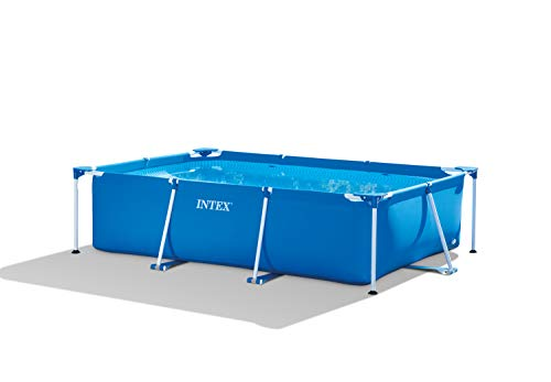 Intex 28272 Metal Frame Rectangular Pool without Filter Pump, 3834 L, Blue,...