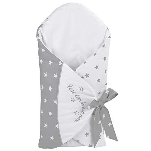 Sevira Kids – Sacco nanna evolutivo, invernale, multiuso, 100% cotone, etichettato, per neonato, idea regalo per nascita, stella