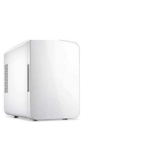 NLRHH Refrigerador de Coches, refrigerador de 4L Mini refrigerador Hogar Dormitorio Pequeño Tamaño Frigorífico Portátil Mini refrigerador Más frío Calentador-Blanco 24x18x25cm (9x7x10 Pulgada) Peng