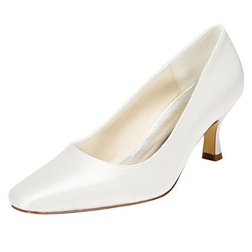 Emily Bridal Zapatos de Novia de Marfil Zapatos de tacón de Gatito...