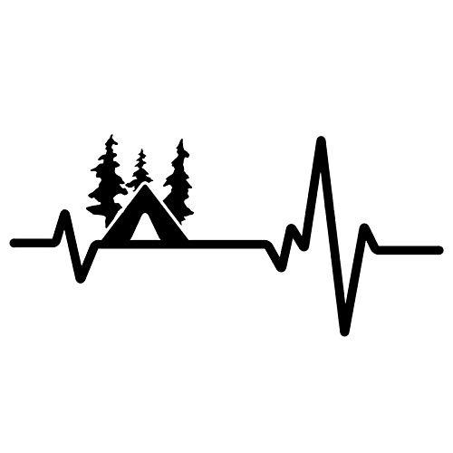 WYZJ-Pegatinas de moda Etiqueta engomada del automóvil Pesca del corazón del corazón negro PVC/Silver Car Sticker 16.6cm x 7.7cm (Color Name : BLACK)