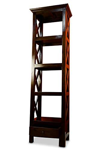 Kinaree Mahagoni Bücherregal Somerset - Massivholz Regal - 180cm Bücherregal im Kolonial Stil