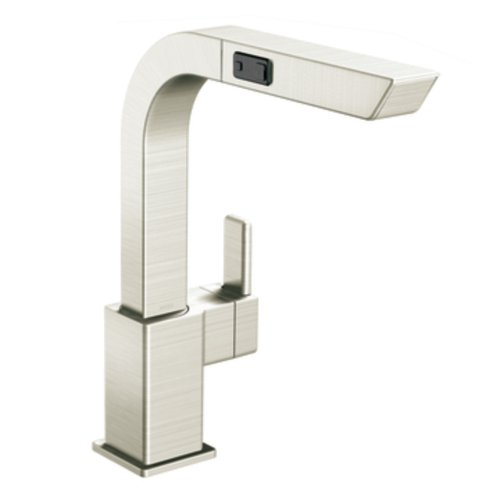 Big Sale Best Cheap Deals Moen CA7597CSL 90-Degree One-Handle High Arc Pullout Kitchen Faucet, Classic Stainless