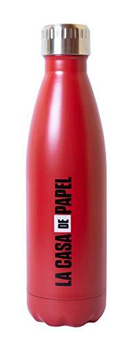 Grupo Erik BMTGE009 Botella de Agua Logo La Casa de Papel, Producto Oficial Netflix, Acero Inoxidable, Rojo