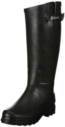 Aigle Damen Aiglentine Fur  Gummistiefel Schwarz (noir 9) 40 EU