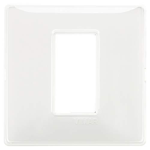 Vimar 14641.41 Serie piatto Placca 1M Reflex neve, Bianco, 8 x 8 x 0.5 cm