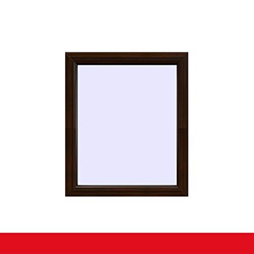 Festverglasung Fenster Mahagoni beidseitig Fest im Rahmen, BxH:600x1000 (60x100 cm), Glas:3-Fach