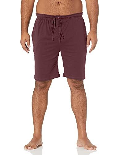 Amazon Essentials - Pantalón corto de pijama para hombre, Burgundy, US XS (EU XS)