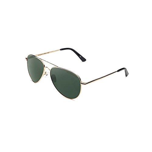 CLANDESTINE Gold Dark Green - Gafas de Sol Polarizadas Hombre & Mujer